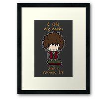 I Like Big Books - Bilbo Framed Print