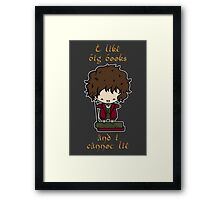 I Like Big Books - Bilbo Framed Print