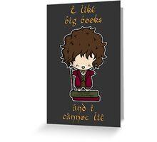 I Like Big Books - Bilbo Greeting Card