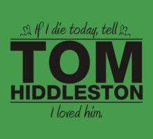 """Tom Hiddleston - """"If I Die"""" Series (Black) by huckblade"""