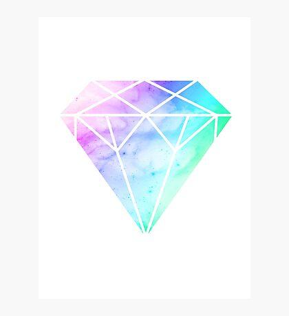 Rainbow Galaxy Diamond Photographic Print