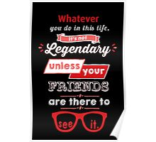 Legendary - Barney Stinson Quote (Red) Poster