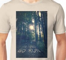 Find Yourself Go Run No. 6 - Forest with Sun Flare Unisex T-Shirt