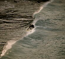 Surfing in St. John by kgately14