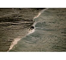 Surfing in St. John Photographic Print
