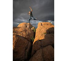 Rocks, Clouds, Action! Photographic Print