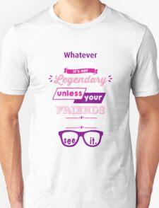 Legendary - Barney Stinson Quote (Purple) Unisex T-Shirt