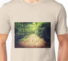 Find Yourself Go Run Motivational Runners Quote Unisex T-Shirt