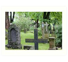 Cemetery in Trondheim outside of the Nidaros Cathedral Art Print