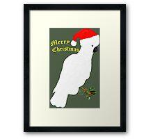 Christmas Cocky Framed Print