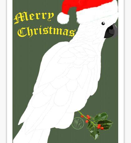 Christmas Cocky Sticker
