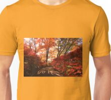 Find Yourself Go Run Autumn Leaves Fall Season Unisex T-Shirt