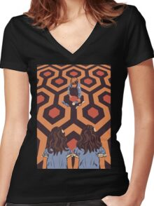 The Shining Room 237 Danny Torrance  Women's Fitted V-Neck T-Shirt