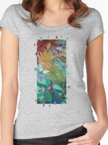 Swimming with Butterflies Women's Fitted Scoop T-Shirt