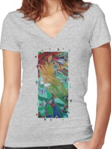 Swimming with Butterflies Women's Fitted V-Neck T-Shirt