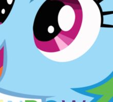 Rainbow Dash = Best Pony Sticker