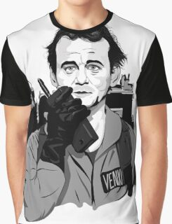 Ghostbusters Peter Venkman Bill Murray illustration Graphic T-Shirt