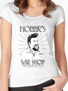 Goodfellas, Morrie's Wigs Shop Sign T-shirt  Women's Fitted Scoop T-Shirt