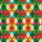 Christmas Diagonal Pattern by Ludwig Wagner