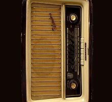 Brown Vintage Radio by HighDesign