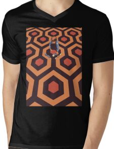 The Shining Screen Print Movie Poster  Mens V-Neck T-Shirt
