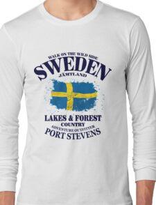 Sweden Flag - Vintage Look Long Sleeve T-Shirt
