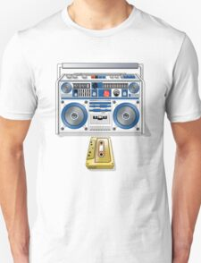 Retro Star Wars Boom box/Ghetto Blaster R2-D2 C-3PO T-Shirt