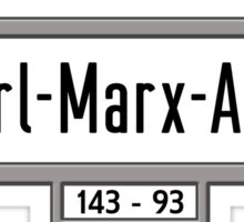 Karl-Marx-Allee, Berlin Street Sign, Germany Sticker