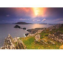 Blasket Island Sunset Photographic Print