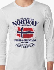Norway Flag - Vintage Look T-Shirt