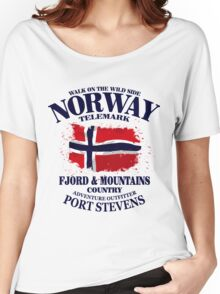 Norway Flag - Vintage Look Women's Relaxed Fit T-Shirt