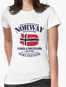 Norway Flag - Vintage Look Womens Fitted T-Shirt