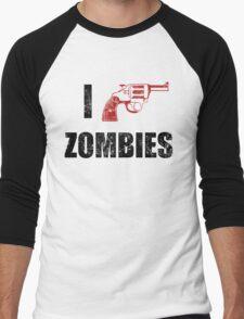 I Shotgun Zombies/ I Heart Zombies  Men's Baseball ¾ T-Shirt