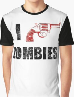 I Shotgun Zombies/ I Heart Zombies  Graphic T-Shirt