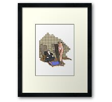 she is built  Framed Print