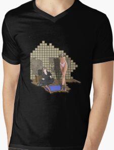 she is built  Mens V-Neck T-Shirt