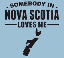 Somebody In Nova Scotia Loves Me Kids Tee