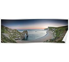 ∞ Durdle Door Panorama ∞ Poster