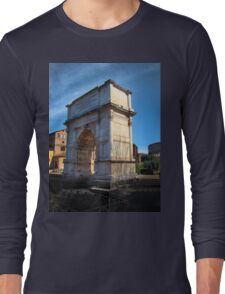 Jewish Arch - Arch Of Titus - Rome - Italy Long Sleeve T-Shirt