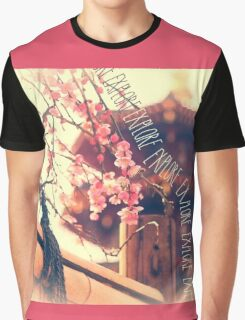 Explore Plum Blossoms Pagoda Bamboo Fence Graphic T-Shirt