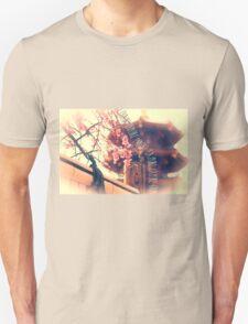 Explore Plum Blossoms Pagoda Bamboo Fence T-Shirt