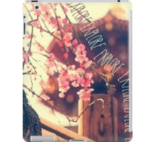 Explore Plum Blossoms Pagoda Bamboo Fence iPad Case/Skin