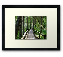 This way, please... Framed Print