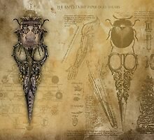The Baptista Imp Paper-Doll Shears by InsectsAngels
