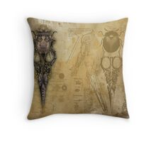 The Baptista Imp Paper-Doll Shears Throw Pillow