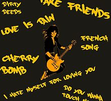Joan Jett - Song Titles by Lisa Briggs