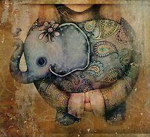 Paisley Elephant by © Karin (Cassidy) Taylor
