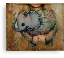 Paisley Elephant Canvas Print
