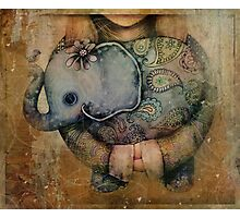Paisley Elephant Photographic Print