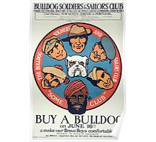 Buy a bulldog on June 16th & make our brave boys more comfortable Bulldog Soldiers & Sailors Club Poster